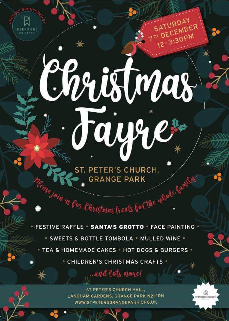 Christmas Fayre @ St Peter's Church – 7th Dec 12PM